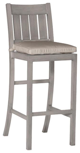 Astonishing Summer Classics Club Aluminum Modern Oyster Outdoor Bar Stool Machost Co Dining Chair Design Ideas Machostcouk