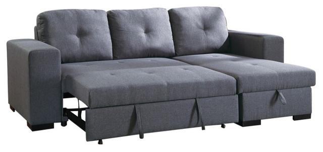 2 Piece Convertible Sectional Sofa, Gray