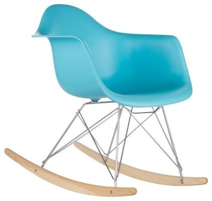 Pleasing Rocker Lounge Chair Aqua Midcentury Rocking Chairs By Ibusinesslaw Wood Chair Design Ideas Ibusinesslaworg