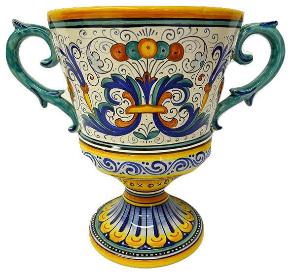 Ricco Deruta Ceramiche Sberna Footed Trophy Centerpiece ...
