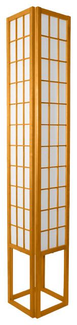 """72"""" Window Pane Shoji Lamp, Honey"""