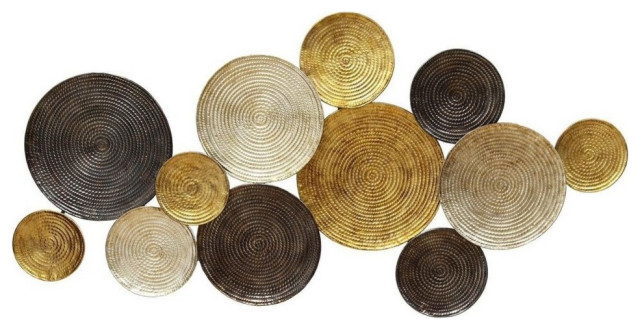 Stratton Home Decor Multi Circles Wall Decor Contemporary Metal Wall Art By Gwg Outlet