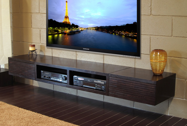 wall mounted entertainment center mayan espresso. Black Bedroom Furniture Sets. Home Design Ideas