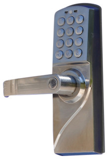 metechs corp keyless electronic digital keypad door lock lh view in your room houzz. Black Bedroom Furniture Sets. Home Design Ideas