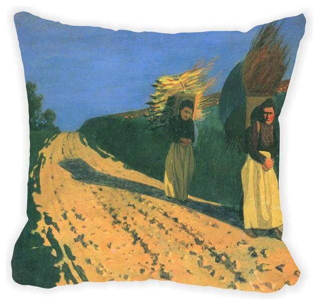Felix Vallotton Art Wood Bearing Women Microfiber Throw Pillow -  Contemporary - Decorative Pillows - by Rikki Knight LLC 7c629cea8