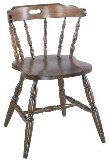 colonial style solid beech wood chairs  walnut  - traditional - dining chairs