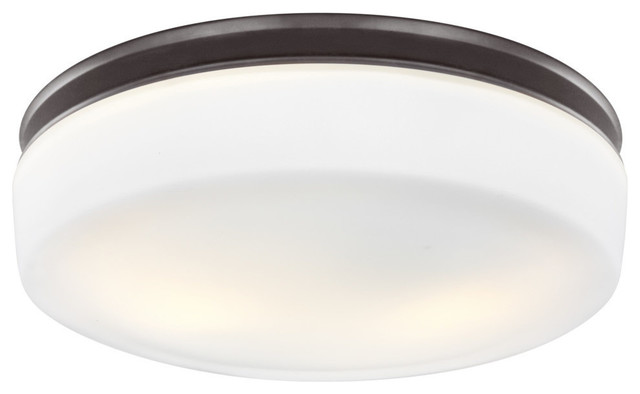 2-Light Flushmount, Oil Rubbed Bronze.