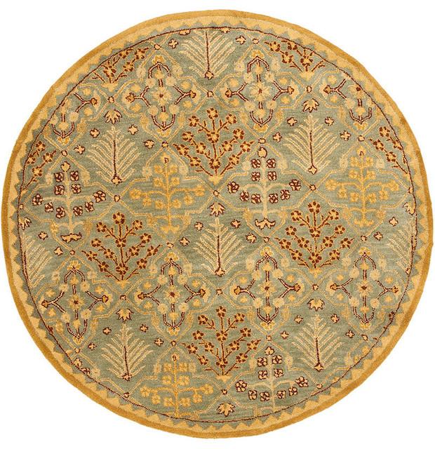 Safavieh Pl537b Persian Legend Wool Hand Tufted Navy Rust: Safavieh Antiquities At613A Rug, Light Blue/Gold