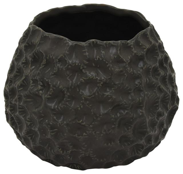 Three Hands Ceramic Vase Black 5 Contemporary Vases By Corp