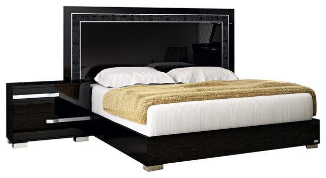 Volare Black King Bed.