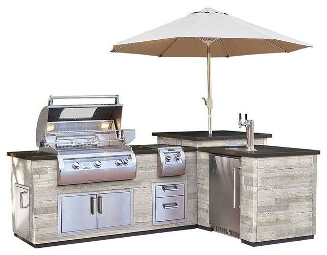 Fire Magic L Outdoor Kitchen Island, Outdoor Kitchen Carts