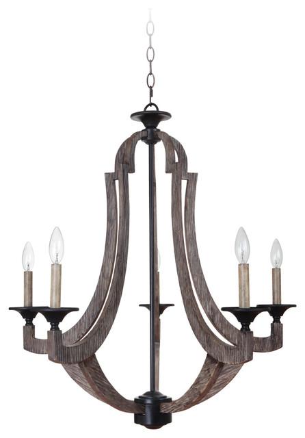 winton 5light chandelier weathered pinebronze chandeliers