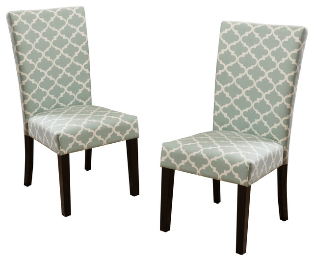 Blue Fabric Dining Chairs raleigh fabric dining chairs, set of 2, light blue - contemporary