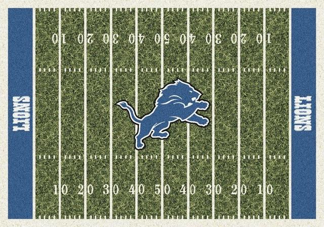 Terrific Detroit Lions Nfl Football Field Rug 310X54 Download Free Architecture Designs Sospemadebymaigaardcom