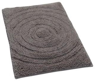 Echo Spray Latex Back Cotton Bath Rug, Stone, 20''x30''