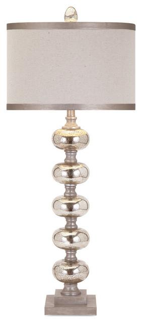 Ginger Mercury Glass Lamp.