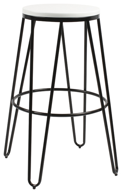 Tully Backless Wood And Metal Bar Stools Set Of 4