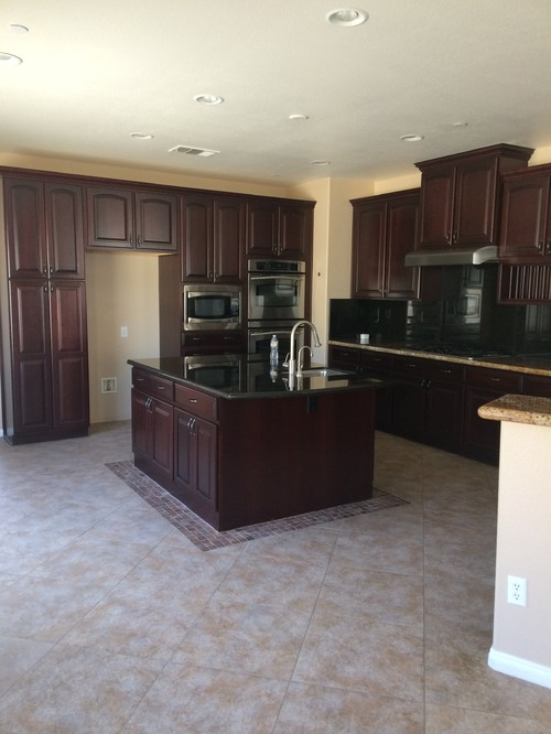 What color wood floor goes with dark cherry cabinets for What color paint goes with cherry cabinets