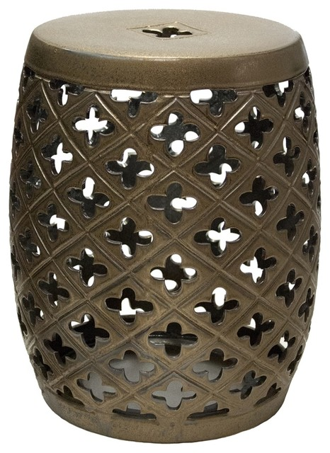 Sagebrook Home Rozlyn Bronze Garden Stool Transitional Accent And Garden  Stools