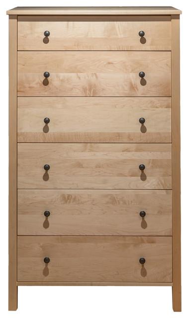 Addison 6-Drawer Chest, Natural Maple