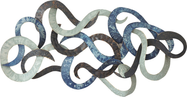 "Moes Home Collection Hz-1014 29.5""x58"" Iron Vance Wall Sculpture."