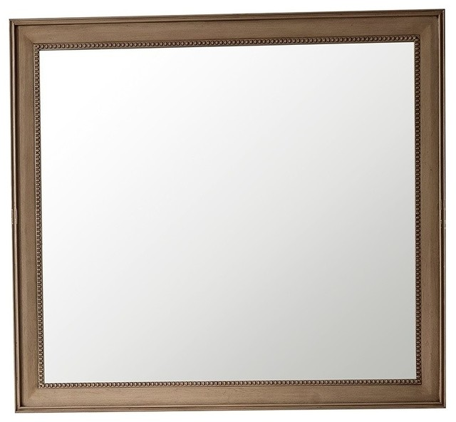 "Bristol 29"" Rectangular Mirror, Whitewashed Walnut, 44"". -2"
