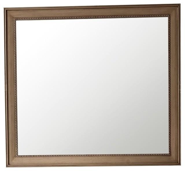 """Bristol 29"""" Rectangular Mirror, Whitewashed Walnut, 44""""."""