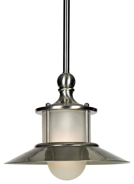 Albion Small Pendant Light With Brushed Nickel Finish.
