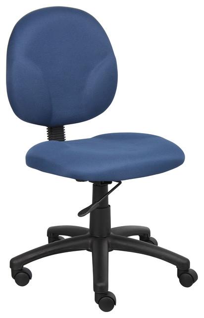 Boss Chairs Boss B9090-Be Diamond Task Chair In Blue.