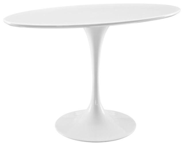 "modway modway lippa "" oval dining table, white  dining tables, Dining tables"