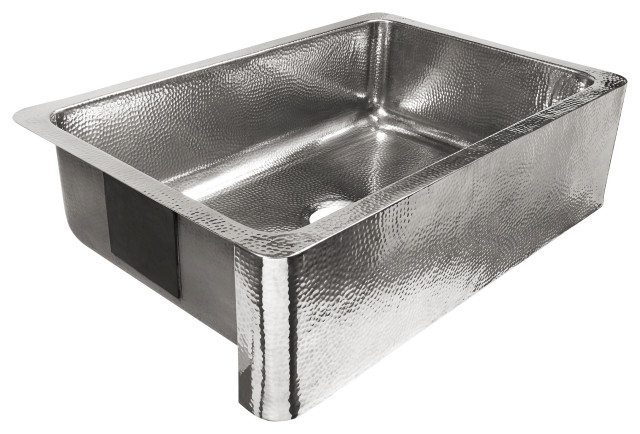 """Percy Farmhouse Apron-Front Stainless 32"""" Kitchen Sink, Polished Stainless"""