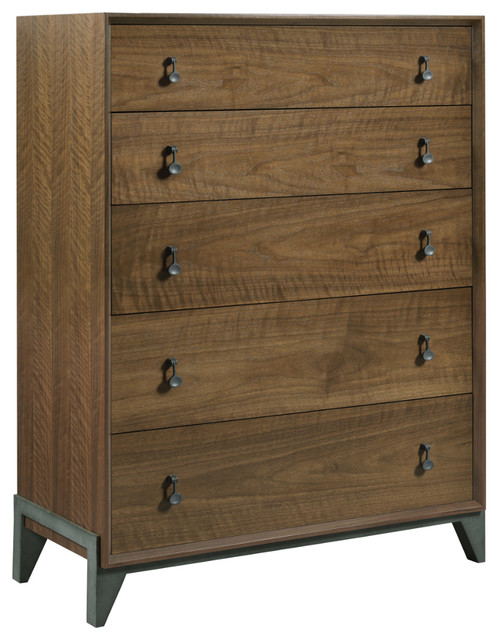 American Drew Ad Modern Synergy Motif Walnut Drawer Chest.
