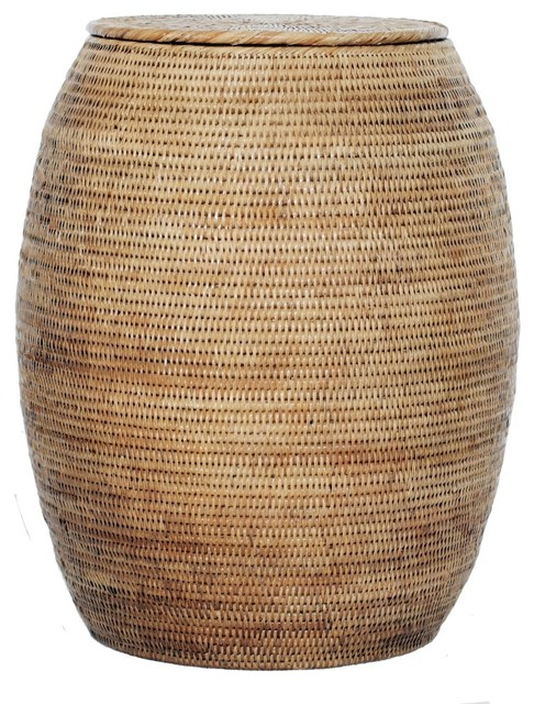 Artifacts Rattan Hamper, Honey Brown.