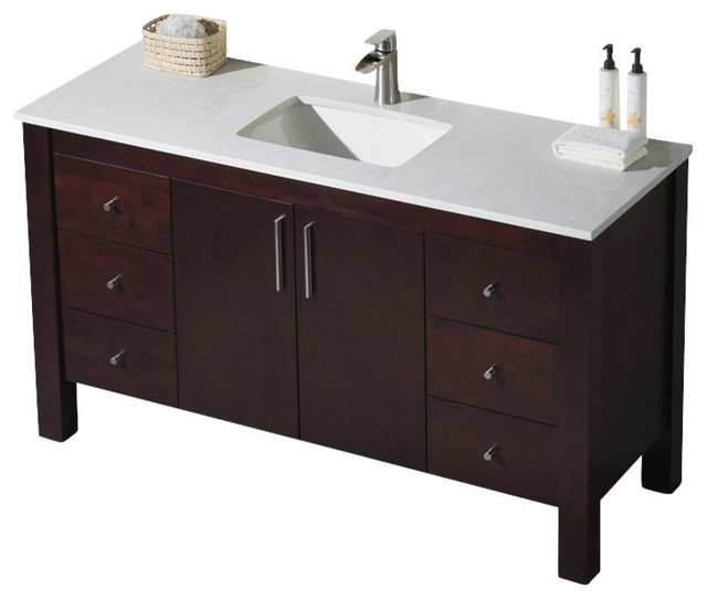 Parsons 60 Single Vanity Bathroom Vanities And Sink