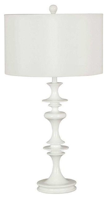Kenroy Home 21033wh, Claiborne Table Lamp, White Gloss.