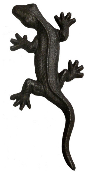 Cast Iron Tropical Lizard Door Pull - Tropical - Cabinet And ...