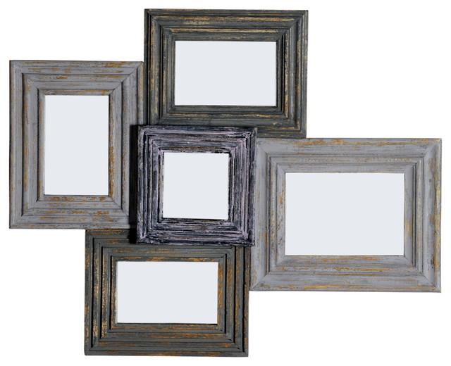 Panca Wall-Mount Multi-Frame Mirror - Farmhouse - Wall Mirrors - by ...