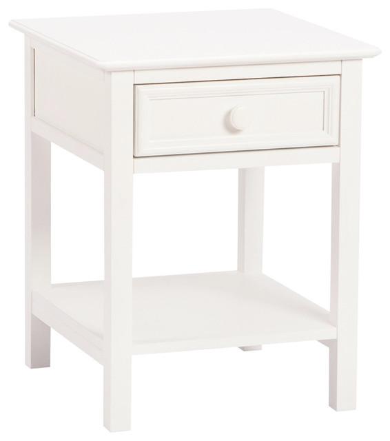 Bolton Wakefield 1 Drawer Nightstand White.