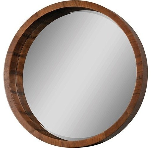 Brybjar Wall Mirror, Walnut Veneer