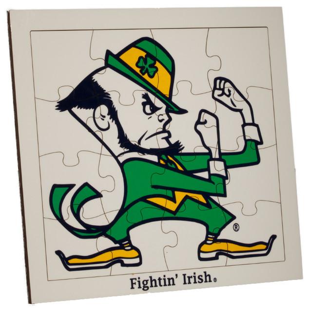 Notre Dame Leprechaun Jigsaw Puzzle Contemporary Kids