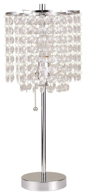 """Fabolus Deco Glam Small Table Lamp, 20.25""""."""