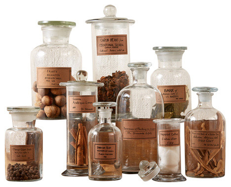 Two's Company - Two's Company Botany Apothecary Jars With Antiqued Labels, 9-Piece Set & Reviews ...