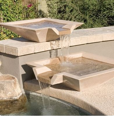 Concrete Oblique Scupper Hot Tub And Pool Supplies Phoenix By Arizona Pottery