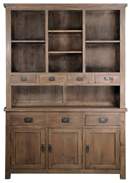 Elmwood Park Mission Sideboard With Hutch.
