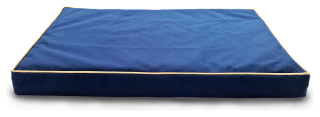 Indoor/ Outdoor Deluxe Memory Foam Pet Mat, Blue, Large by Furhaven