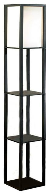 Square Etagere Floor Lamp Storage and Display Shelf