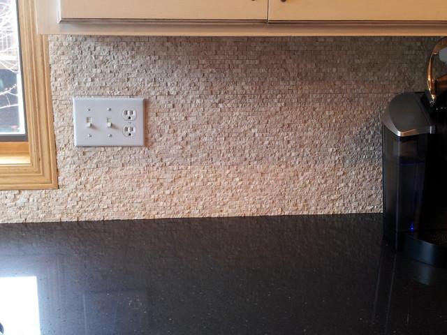 Install Groutless Tile Backsplash
