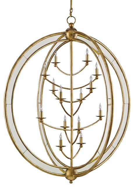 Currey co aphrodite gold granello chandelier for Garden room braithwell