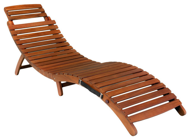 Gdf Studio Lisbon Folding Chaise Lounge Chair Transitional Outdoor Lounges By Gdfstudio