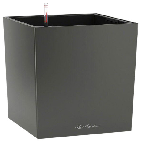 Cube Self Watering Planter, 40x40x40 CM, Charcoal